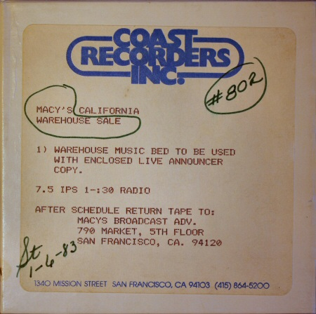 Front of box- tape 802